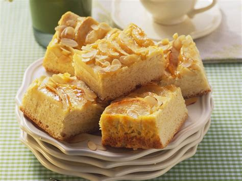 apfel quark kuchen mit mandeln rezept eat smarter