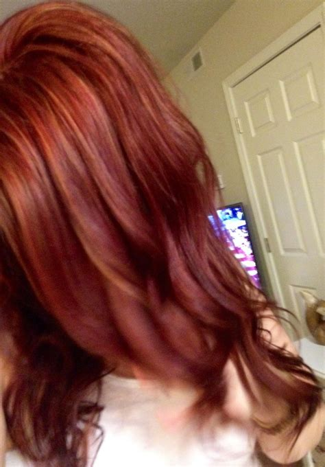 mahogany red  copper red  blonde highlights