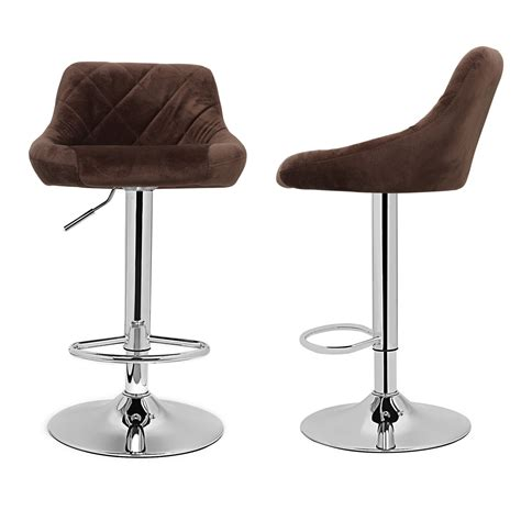 Microfiber Bar Stool - model microfiber brown bar stool chair adjustable home