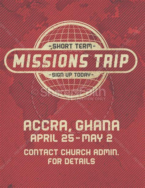 short term mission trip religious flyer template flyer
