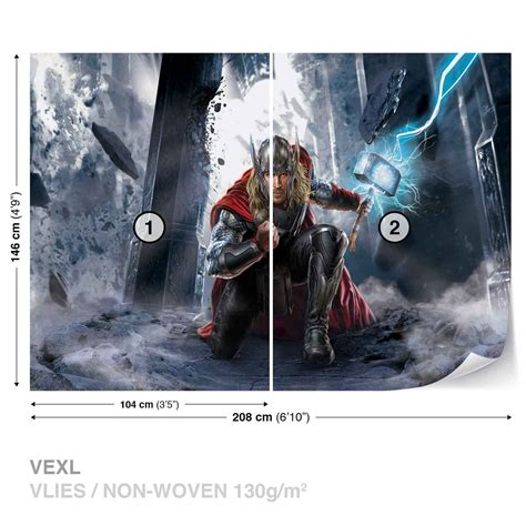 marvel avengers thor wall paper mural buy europosters
