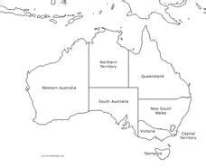 2409x2165 / 1,35 mb go to map. Australia Map Graphic Organizer for 7th - 12th Grade ...