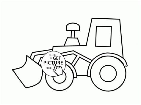 Coloring Jcb by Simple Excavator Coloring Page For Transportation