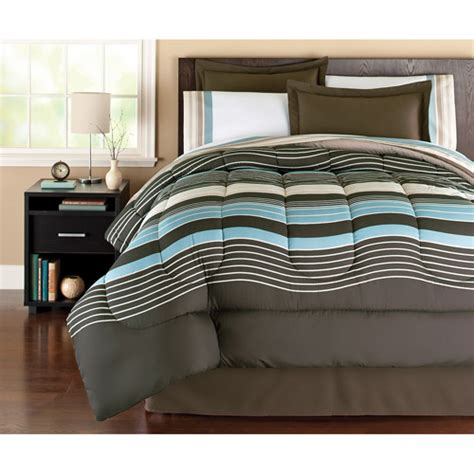 Bed Sets Walmart by Mainstays Coordinated Bedding Set Stripe Walmart