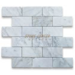 carrara white 2x4 grand brick subway mosaic tile polished marble from italy mosaics