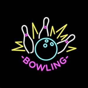 Neon Light Typeface Neon Bowling Vector Download Free Vectors Clipart