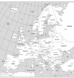 Europe Maps with Countries Labeled