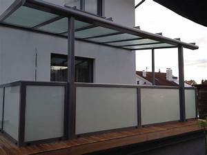 Terrassenüberdachung Aus Glas : terrassen berdachung mit gel nder aus alu milchglas ~ Whattoseeinmadrid.com Haus und Dekorationen