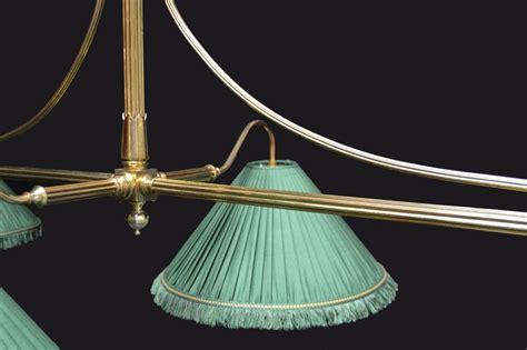 Brass Framed Antique Billiard Snooker Pool Table Light