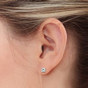 earring sizing guide at my wedding ring