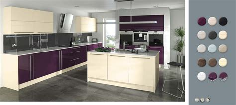 gloss   measure aubergine jasmine kitchens  trend kitchen collection