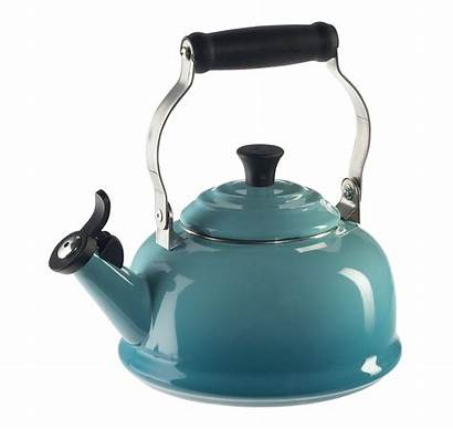 Creuset Kettle Tea Whistling Caribbean Azul Caribe