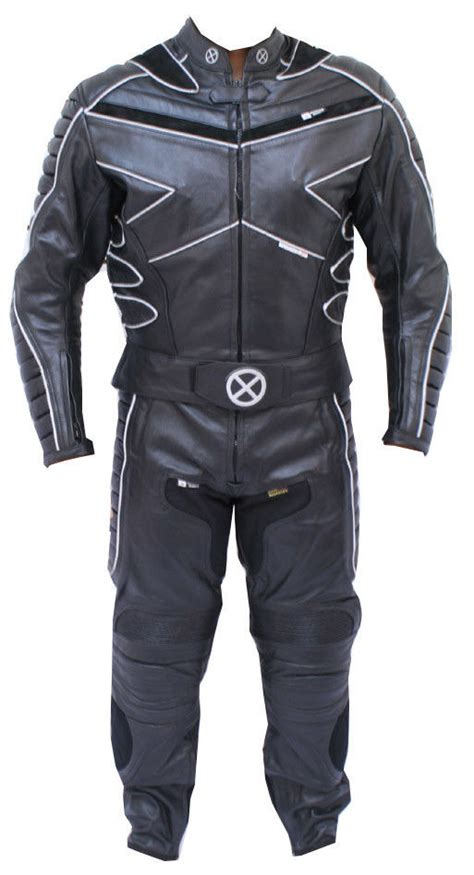 motorcycle suit mens 2pc x men motorcycle leather racing riding track suit ce