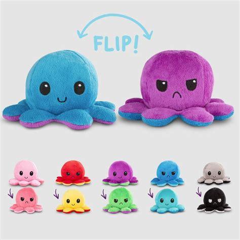 purple bags reversible octopus mini plushie nerdy