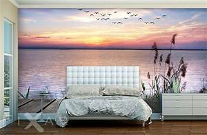 Bild Fürs Schlafzimmer : romatischer sonnenuntergang fototapete f r schlafzimmer ~ Michelbontemps.com Haus und Dekorationen