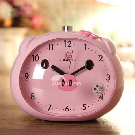 funny alarm clocks abs plastic cute modern silent blue