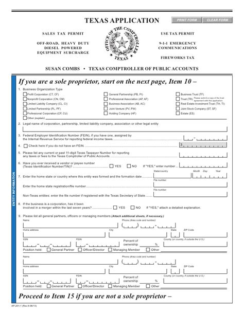 ct id application form texas fireworks tax forms ap 201 texas application for