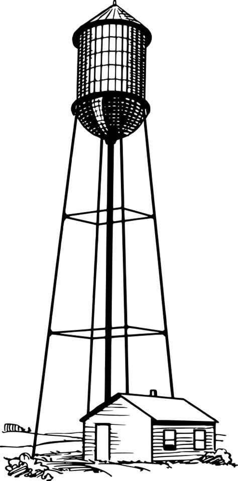 onlinelabels clip art water tower