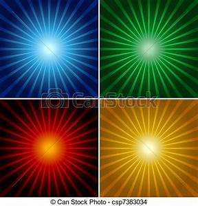 EPS Vector of Light Rays - Abstract Background ...