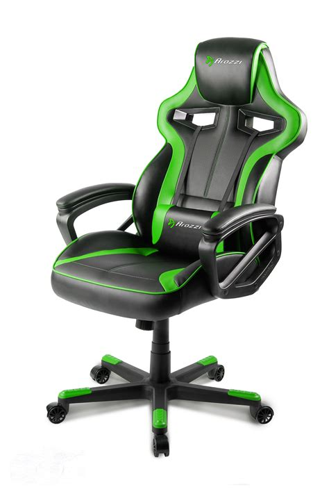 Gaming Chairs by Arozzi Gaming Chair Green Arozzi