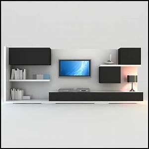 modern tv wall unit dwg