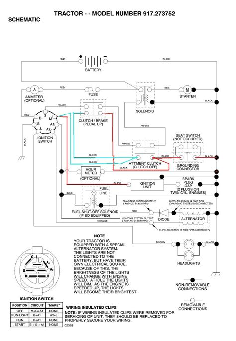 Fs5500 Craftsman Tractor Wiring Diagram by Craftsman Lt2000 Electrical Bypass Sears Partsdirect