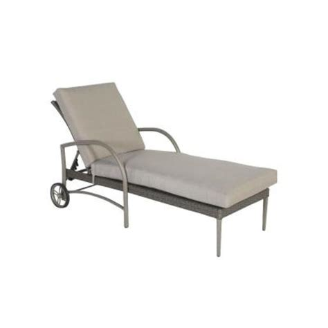 hton bay posada patio chaise lounge with gray cushion
