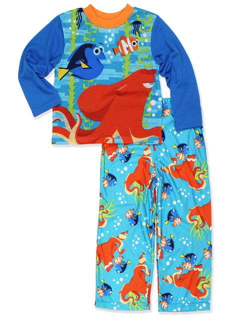 Disney - Finding Dory Nemo Boys Top with Flannel Pants ...