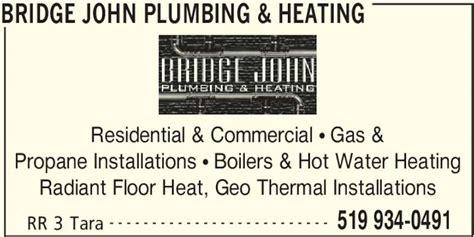 propane boiler for radiant floor heat bridge plumbing heating 531 concession rd 10 east