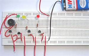 Simple Water Level Indicator Alarm Circuit Diagram