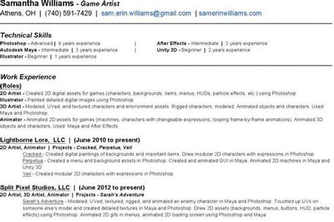 Animator Resume Pdf by Resume Template Free Premium Templates Forms