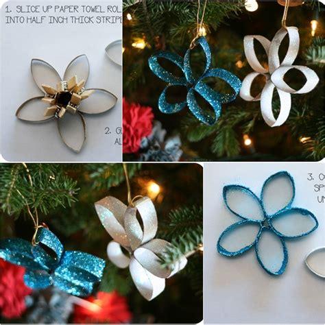 wonderful diy paper roll christmas tree  star ornaments