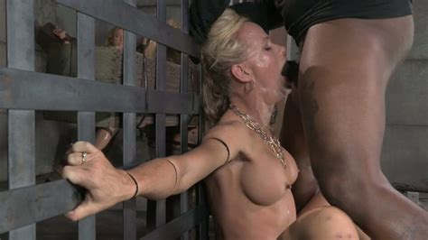 Bound Blond Cutie Simone Sonay Got Mouth Fucked By Bdsm Masters Tough