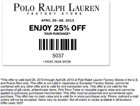 Ralph Lauren Coupon Code 25
