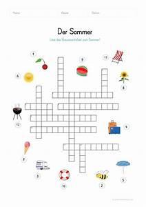 Ein Kunstleder Kreuzworträtsel : ein kostenloses arbeitsblatt zum sommer auf dem die kinder ein kreuzwortr tsel zum sommer l sen ~ Eleganceandgraceweddings.com Haus und Dekorationen