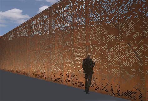 corten steel designs parker arts culture events center pace semple brown architects designers archinect