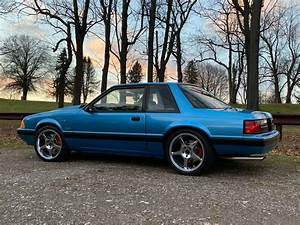 1991 Ford Mustang LX Notchback Coupe Bimini Blue for sale - Ford Mustang Coupe Notchback 1991 ...