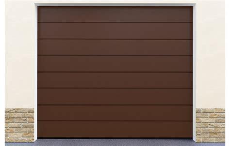 porte garage sectionnelle coloris marron standard