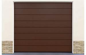 Porte De Garage Enroulable Pas Cher : porte garage sectionnelle coloris marron standard ~ Dailycaller-alerts.com Idées de Décoration