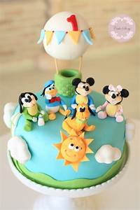 Baby mickey and friends birthday cake...bebek mickey ve ...