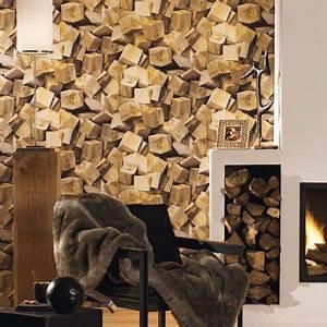 Papier Peint Trompe L Oeil Bois : inspiration papier peint trompe l 39 oeil ou effet mati re ~ Premium-room.com Idées de Décoration