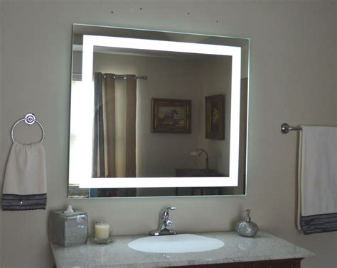 Back Lighted Bathroom Mirrors by Lighted Vanity Mirror Led Lighted Wall Mounted Mam84036
