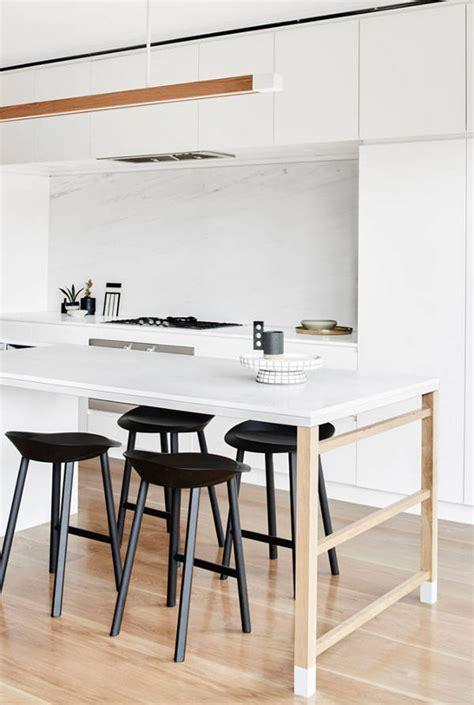 architecture de cuisine moderne cuisine avec plan de travail table