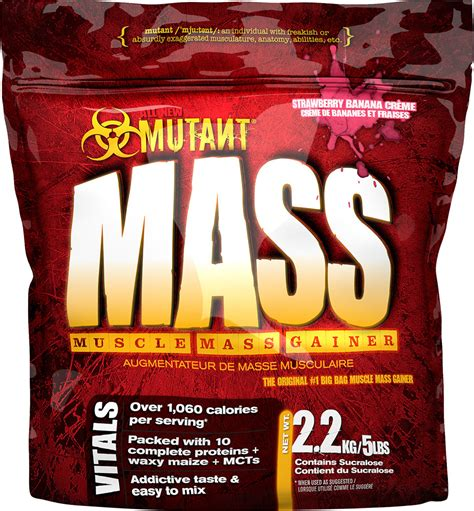 Mutant Mass 5 Lbs By Nutriku mutant mass 5 lbs 2200 g weight gainer protein u