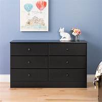 black 6 drawer dresser Prepac Astrid 6-Drawer Black Dresser-BDBR-0402-1 - The Home Depot