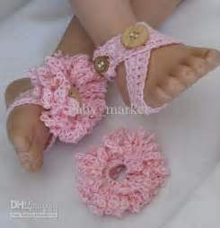 crochet pattern baby girl shoes sandals flowers barefoot straps 0-12M cotton custom