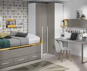 Etagere Chambre Ado : chambre ado avec lit gigogne lit amovible meubles ros ~ Teatrodelosmanantiales.com Idées de Décoration