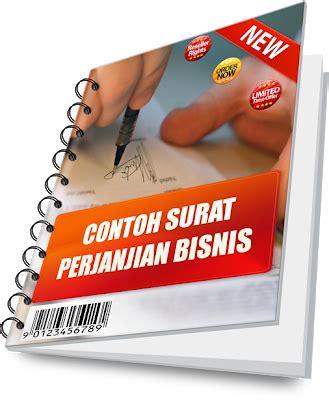 cd contoh surat perjanjian  pernyataan  bisnis