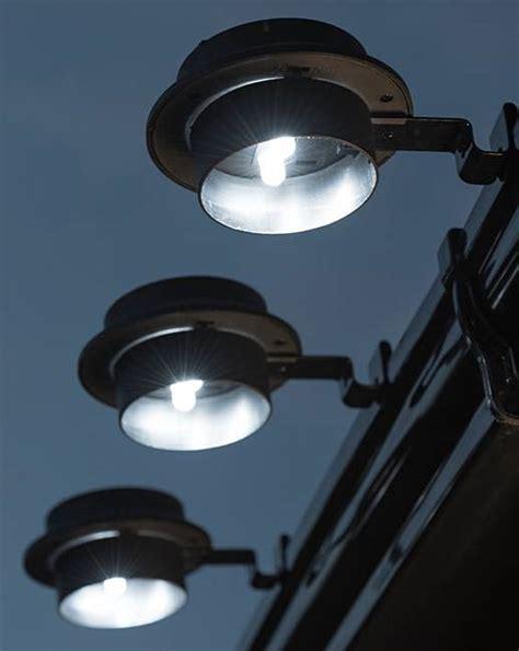 gutter for lights set of 3 solar gutter lights j d williams