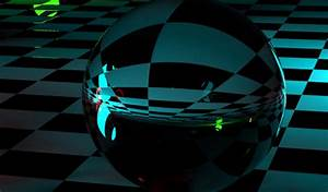 3D Crystal Black Ball HD Wallpaper for Mobile